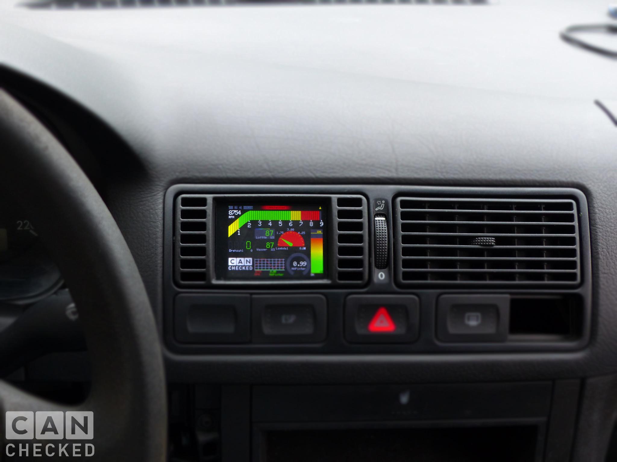 Golf 4 Display Einbaurahmen Lüftungsdüse